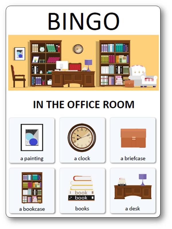 Loto des meubles objets et pi ces de la maison loto du for Anglais vocabulaire maison