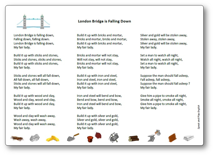 Paroles de la chanson London Bridge is Falling Down