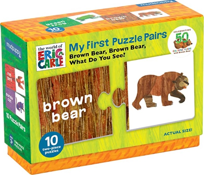 Brown Bear What Do You See, Mon premier jeu de puzzle d'Eric Carle