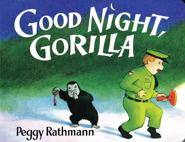 Good Night, Gorilla de Peggy Rathmann, livre en anglais sur les animaux du zoo