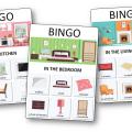 Loto des objets et pièces de la maison en anglais