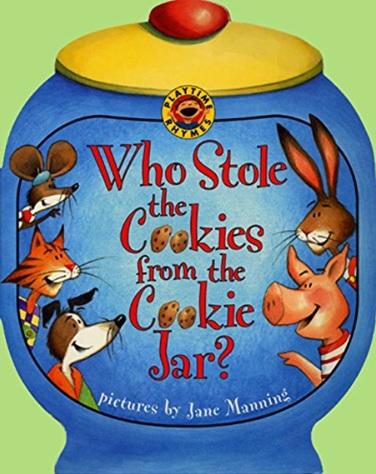 Who Stole the Cookie from the Cookie Jar, comptine illustrée par Jane Manning