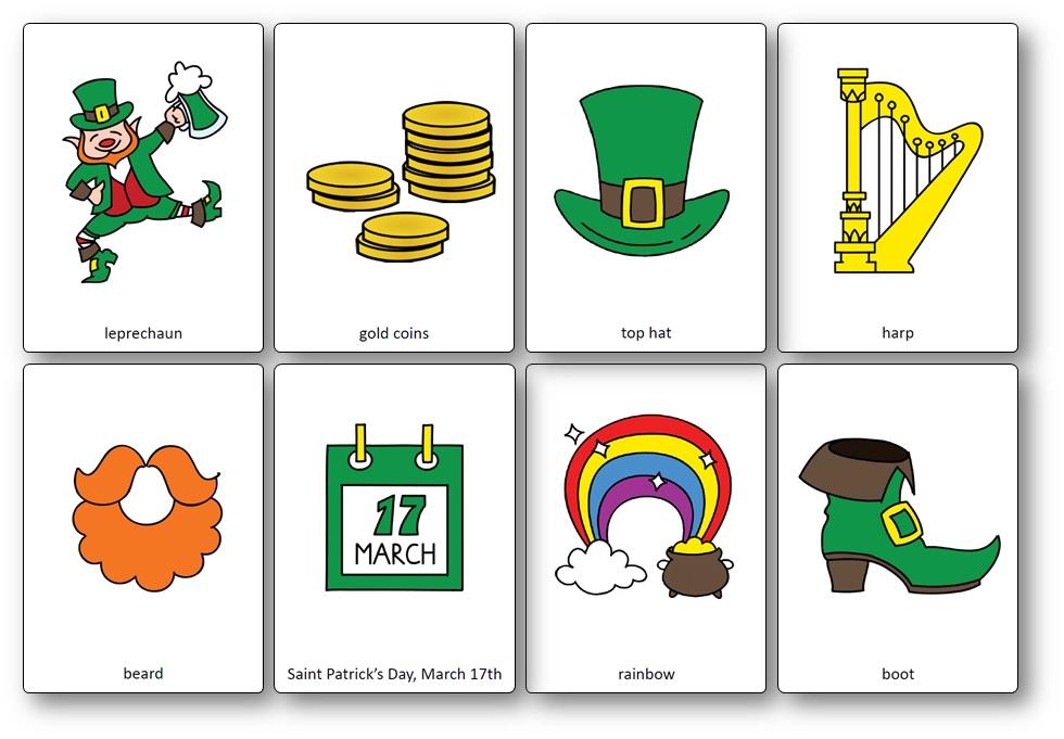 St Patick's Day en anglais : images à imprimer