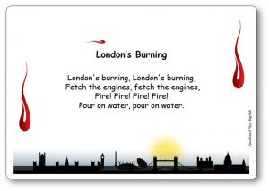 Comptine en anglais London's Burning