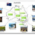 Exercice sur la carte de l'Australie Cycle 3