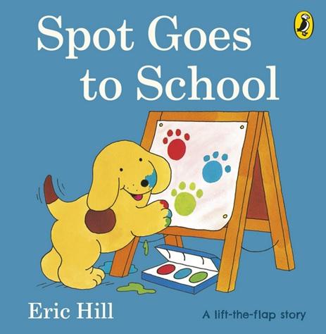 Spot Goes to School d'Eric Hill, histoire avec volets à rabat