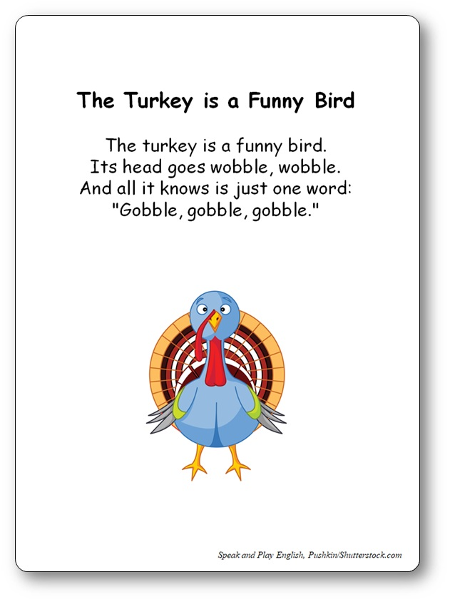 The Turkey is a Funny Bird Comptine pour le dinner de Thanksgiving