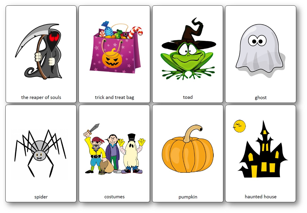 flashcards halloween anglais pdf, Flashcards d'Halloween en anglais