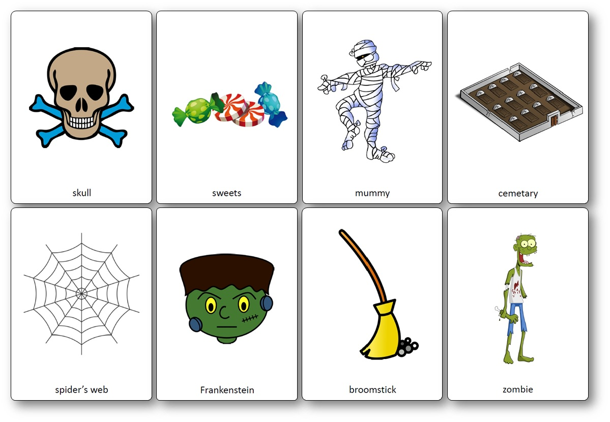flashcards halloween esl, Flashcards d'Halloween en anglais
