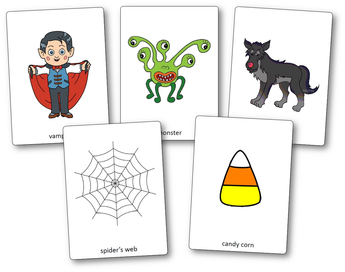halloween anglais images flashcards a imprimer, Flashcards d'Halloween en anglais