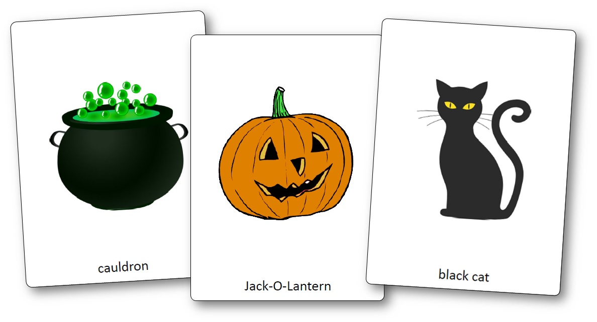 Flashcards d'Halloween en anglais, flashcards halloween anglais pdf gratuit