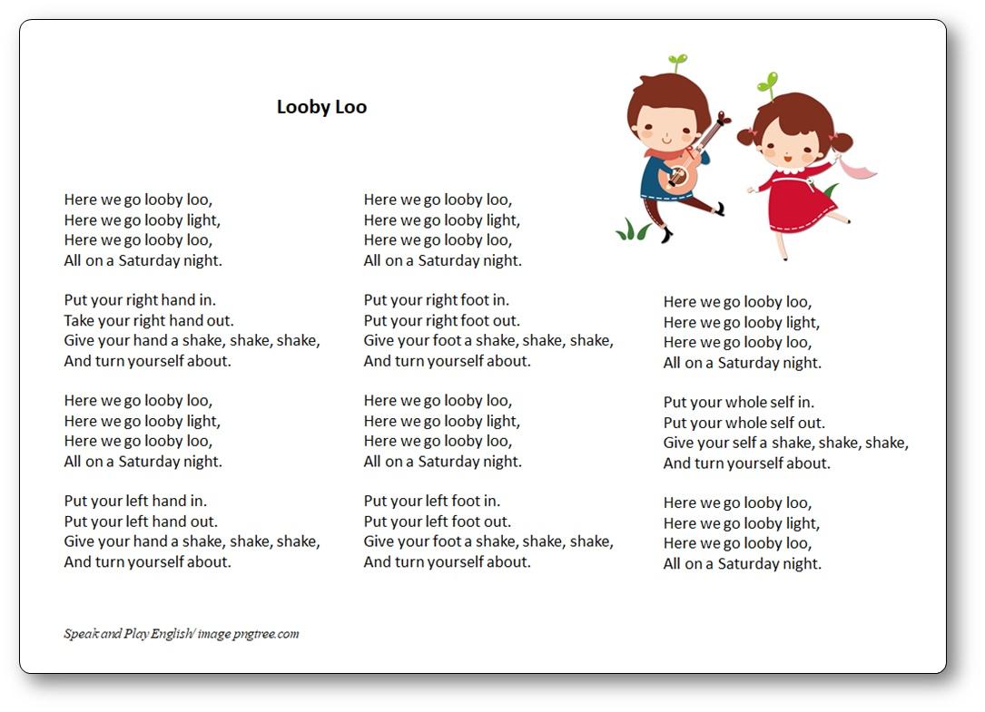 Looby Loo - Paroles de la chanson looby loo en anglais et sa traduction en français
