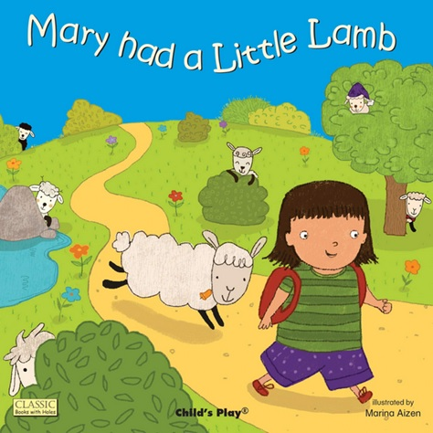 Mary Had a Little Lamb, comptine illustrée par Marina Aizen
