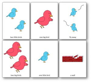 Images Flashcards Two Little Dicky Birds
