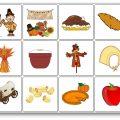 jeu de mémoire de Thanksgiving