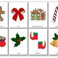 Flashcards de Noël en anglais à imprimer