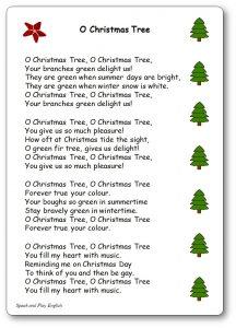 Lyrics Of Oh Christmas Tree