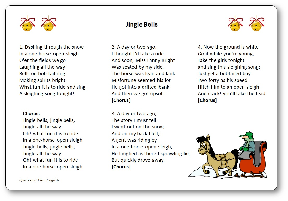 chanson jingle bells paroles traduction francais anglais, jingle bells chanson en francais