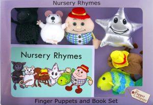 Humpty Dumpty Ensemble de marionnettes de doigts et album