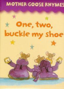 One, Two, Buckle My Shoe de l'album Mother Goose Rhymes, comptine illustrée par Jan Lewis