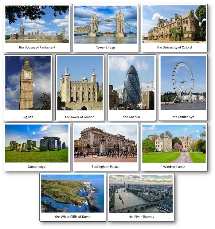 Flashcards Sur Le Royaume Uni Et Langleterre En Anglais