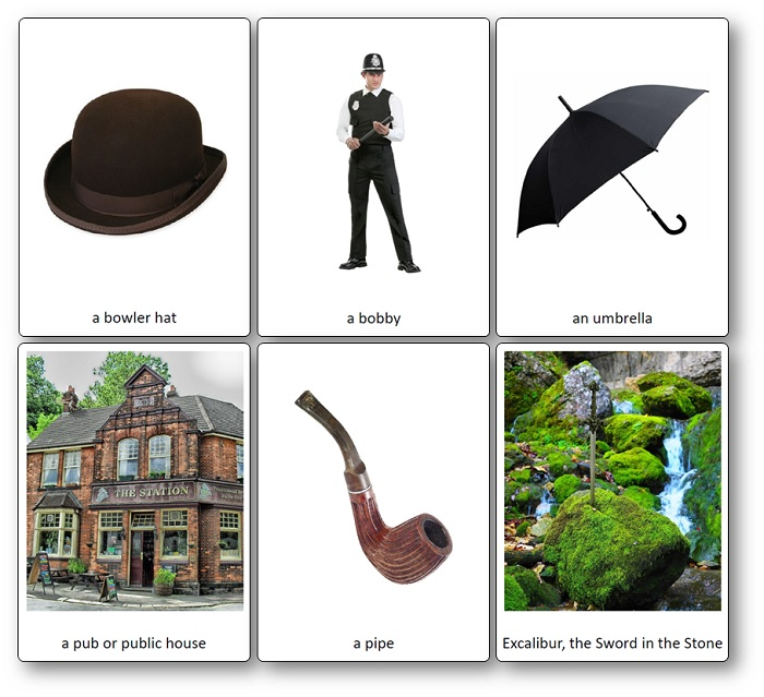 Flashcards Symboles Angleterre