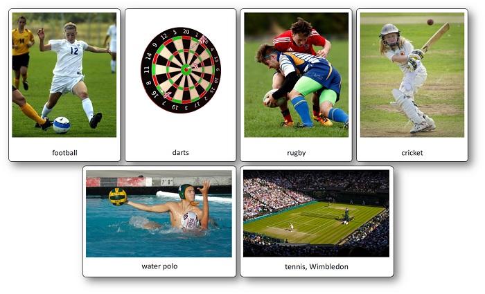 Flashcards sur le sport en Angleterre