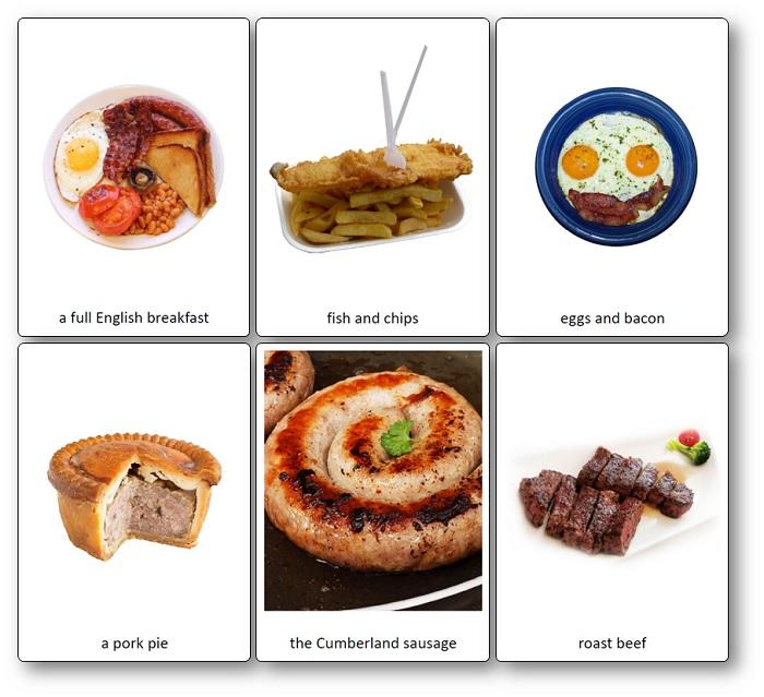 Images Flashcards Nourriture Angleterre