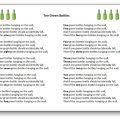 Paroles de la comptine Ten Green Bottles pour apprendre à compter en anglais