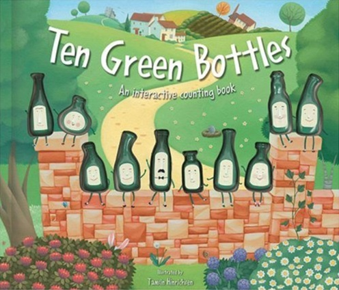 Ten Green Bottles Livre à compter interactif illustré par Tamsin Hinrichsen