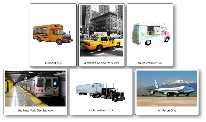 Imagier des transports des Etats-Unis