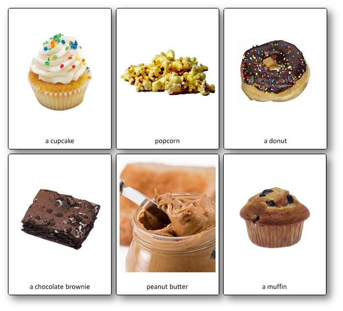 Imagier Flashcards de la nourriture américaine