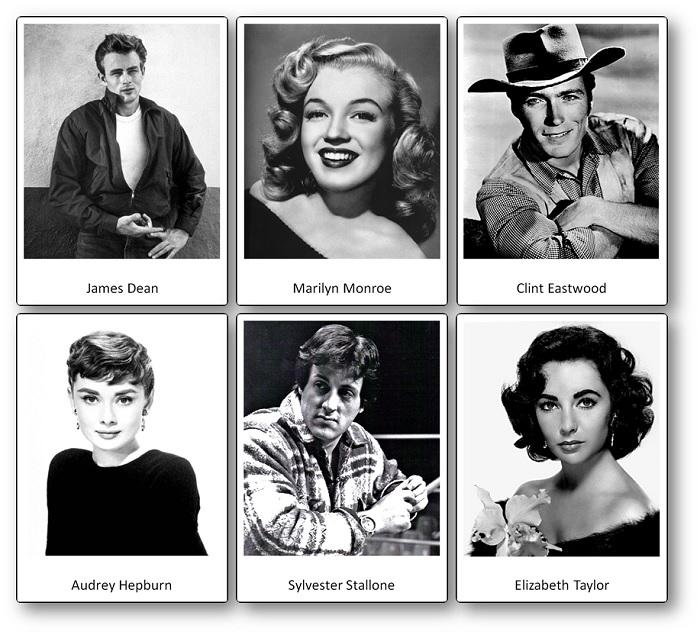 Acteurs célèbres des Etats-Unis d'Amérique : images à télécharger gratuitement