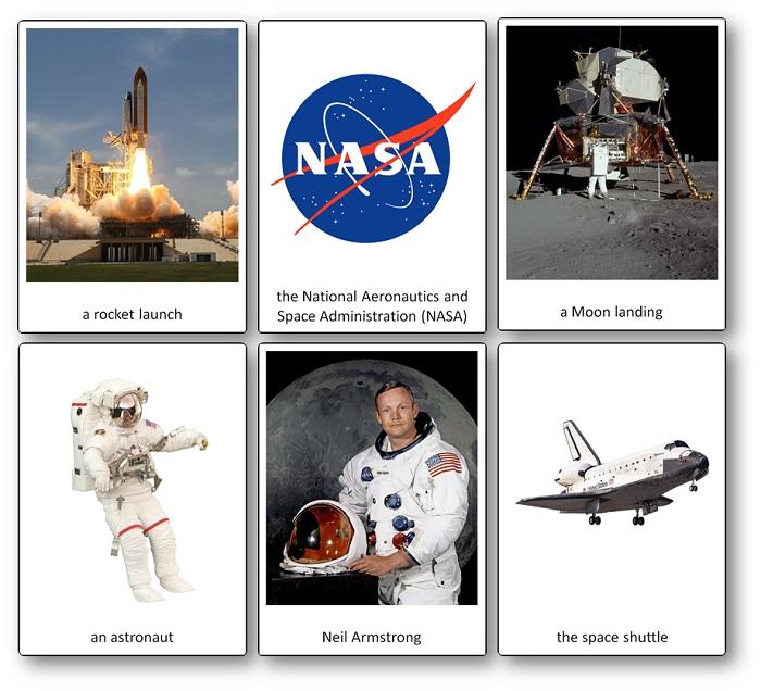 Imagier sur la conquête spatiale américaine