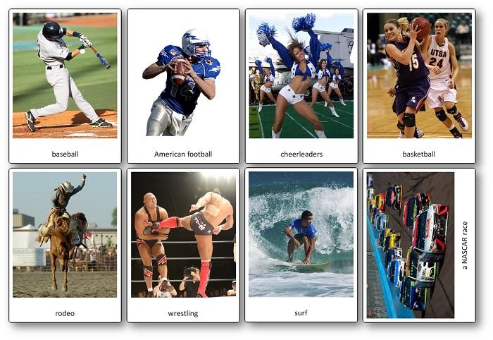 le sport aux Etats-Unis : flashcards à imprimer