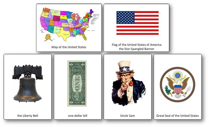 Images à imprimer sur les symboles et emblèmes d'Amérique