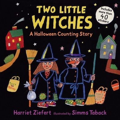 Two Little Witches, Histoire d'Halloween à compter en anglais d'Harriet Ziefert