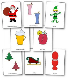 Flashcards Father Christmas Needs a Wee, exploitation Father Christmas Needs a Wee
