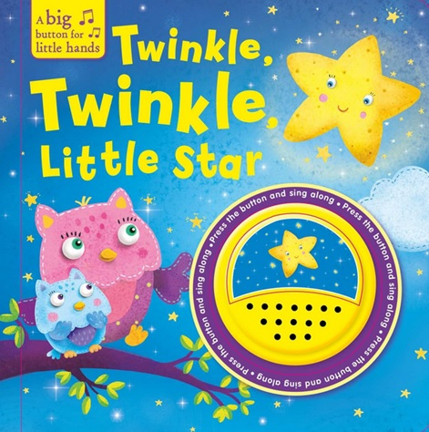 Livre cartonné de la comptine Twinkle Twinkle Little Star