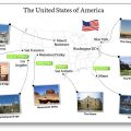 Exercice Carte desEtats-Unis photos monuments