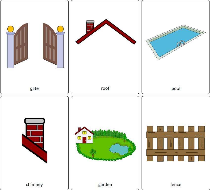 vocabulaire anglais maison. flashcards maison anglais. pièces de la maison en anglais.