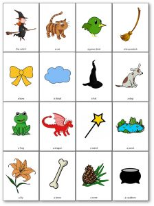Room on the Broom Flashcards imagier à imprimer