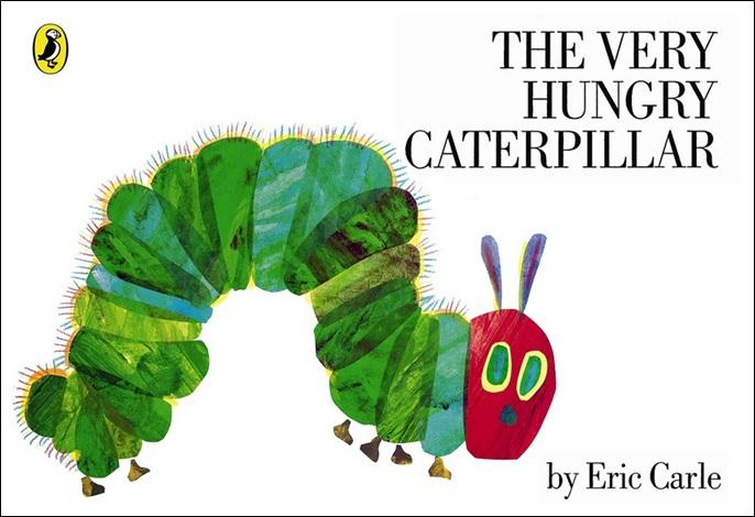The Very Hungry Caterpillar un livre d'Eric Carle, albums nourriture anglais