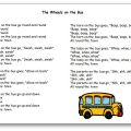 The Wheels on the Bus Paroles de la chanson en anglais et en français