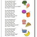 Chanson nourriture anglais Do You Like Broccoli Ice Cream?