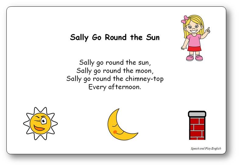 Comptine Sally Go Round The Sun paroles