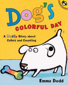 Dog's Colorful Day d'Emma Dodd, une Histoire à compter et pour apprendre les couleurs en anglais